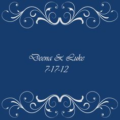 Blue and Silver Wedding Theme Guest Book Canvas. $99.99, via Etsy.