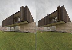 Casa con fachada dinámica - Noticias de Arquitectura - Buscador de Arquitectura