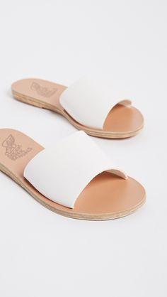 fc592267013c67 Ancient Greek Sandals Taygete Slide Sandals White Sandals