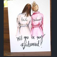 How did you propose to your bridesmaids? Will you be my bridesmaid?  These PDF printable cards are from #Etsy seller #Aprilheatherart
