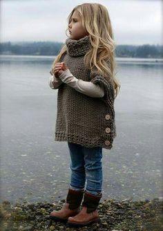 Saco cuadrado crochet niña
