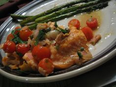 Beyond PB: Baked Salmon with Tomato-Caper Sauce