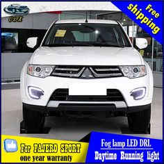 (117.50$)  Buy here  - Free Shipping Pair of LED Car Lights DRL Daytime Running Light WithTurn Light For MITSUBISHI Pajero Sport 2013 2014 2015