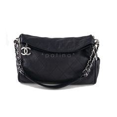 Pre-Owned Chanel Black Lambskin Quilted Ultimate Soft Flap Bag ($1,699) ❤ liked on Polyvore featuring bags, handbags, black, quilted handbags, pre owned handbags, quilted purse, chanel purses and chanel handbags