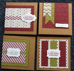 Stampin up wishing you stamps, season of style paper, pretty print embossing folder