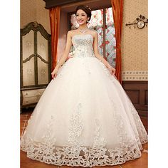 Ball Gown Sweetheart Lace Floor-length Wedding Dress – USD $ 99.99
