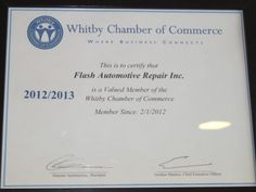 Proud Member of the Whitby Chamber Of Commerce: Where business connects!