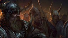 Viking March, Darek Zabrocki on ArtStation at https://www.artstation.com/artwork/YYzV