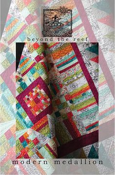 Modern Medallion Quilt Pattern by Beyond the Reef