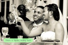 Brilliant! Toasting Tips to pass onto the best man, MoH, parents or other honored person on wedding day - La Vie En Rose Events