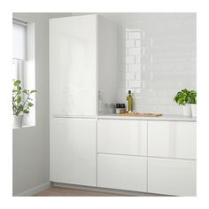 Ikea knoxhult white base cabinet with doors and drawer 3 – White N Black Kitchen Cabinets Refacing Kitchen Cabinets, Cabinet Refacing, Kitchen Doors, Ikea Ringhult, Voxtorp Ikea, Scandinavian Kitchen, White Doors, Black Kitchens, Küchen Design