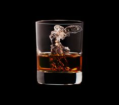 Suntory Whisky CNC router-carved ice cubes | winged victory of samothrace