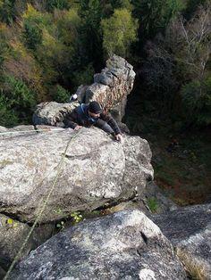 Climbing - Hard - Don't look down.