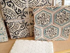 Tabarka Studio.  Black & Cream Moorish Tile