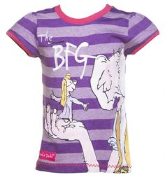 Spread the joy of from your bookshelf to your wardrobe with this fantastic tee from Fabric Flavours! featuring a classic Quentin Blake illustration and with the high quality detailing we have come to know and love from the brand, this gets top marks! Bfg Roald Dahl, Quentin Blake Illustrations, Movie Crafts, Top Marks, Fantasy Movies, Cool Outfits, Joy, Purple, Tees