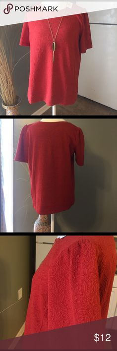 NWT Loft Shirt 98% Polyester 2% Spandex It is an orangey coral color. New with tags. Got it from Loft Outlet LOFT Tops Blouses