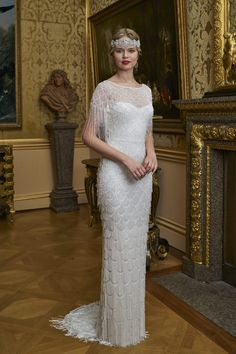 Eliza Jane Howell ¦ Vintage Style Wedding Dresses at Georgina Scott Bridal Gatsby Wedding Dress, Art Deco Wedding Dress, Wedding Gowns, 1920s Wedding, Vintage Gowns, Vintage Bridal, Royal Dresses, 1920s Dress, Looks Vintage