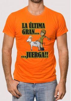 Camiseta para chico de despedida, disfruta de tu última gran juerga!