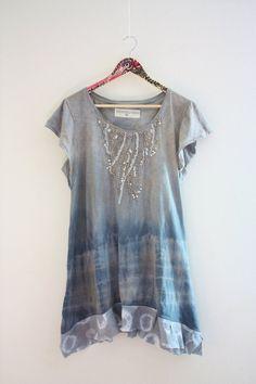 Medium Upcycled tunic dress Upcycled clothing by SaidoniaEco
