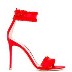 Gianvito Rossi Caribe 10.5 sandals (€575) ❤ liked on Polyvore featuring shoes, sandals, heels, red, leather sandals, high heels sandals, heeled sandals, ankle strap sandals and red heeled sandals