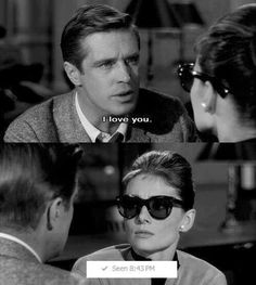 Funny pictures about Love lessons from Audrey Hepburn. Oh, and cool pics about Love lessons from Audrey Hepburn. Also, Love lessons from Audrey Hepburn. Quote Movie, Film Quotes, Funny Quotes, Funny Memes, Quotes Quotes, Movie Film, Classic Movie Quotes, Classic Movies, Lol Movie
