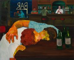 'Sloppy Bar Room Kiss' (2001) by Nicole Eisenman