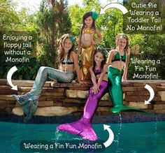 I'm the happiest kid on earth right now! Mermaid tails for the pool! I need thisssss