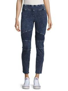 ANDREW MARC Acid Wash Leggings. #andrewmarc #cloth #leggings