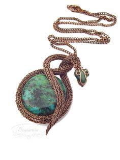 Viking knit copper snake