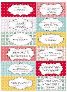 Interviewkaartjes om op een leuke manier te kletsen over het weekend of over de vakantie. Interviewkaartjes Op de meeste scholen wordt er op maandagochtend een kring gehouden over het weekend. Er zijn genoeg varianten te bedenken om deze kring aantrekkelijker te laten verlopen. Vertellen in de binnen-buiten kring van coöperatief leren, vertellen in groepjes of …