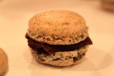 Earl Grey Tea macaron with chocolate filling
