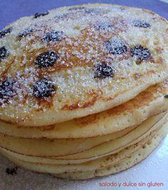 Salado y dulce sin gluten: Tortitas para el desayuno Diabetic Recipes, Real Food Recipes, Dessert Recipes, Cooking Recipes, Yummy Food, Breakfast Recipes, Healthy Desserts, Healthy Cooking, Healthy Life