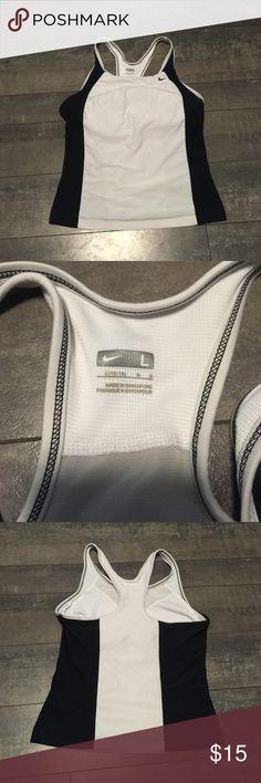 Nike black and white workout tank size large Nike black and white workout tank size large (12-14) Nike Tops Tank Tops