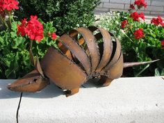 Armadillo Garden Sculpture Medium