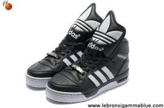 the latest d7dd6 6f93a Wholesale Cheap Adidas X Jeremy Scott Big Tongue Shoes Black White  Basketball Shoes Shop Nike Zoom