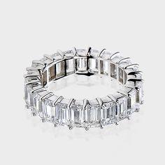 Emerald Cut 14k Cz Wedding Band Bands Cubic Zirconia Rings