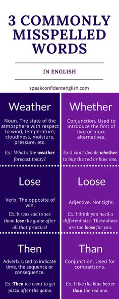 Do these words sometimes confuse you? You're not alone. They look and sound very similar, but this little cheat sheet will help you avoid mistakes.