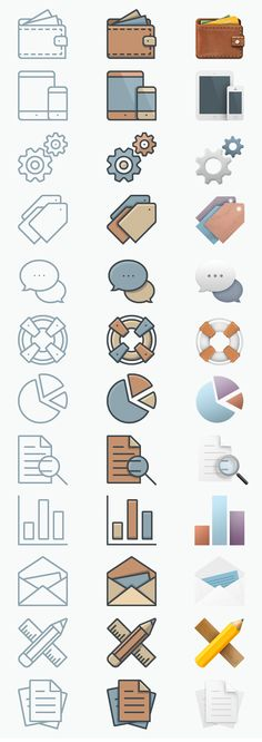 36 Free Business Icons Perfected In Three Unique Styles And Sizes http://www.wordpressawards.net/portfolio/free-business-icons/ #free #business #icons