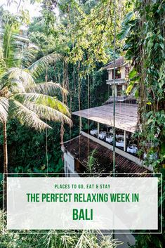 The perfect way to spend a relaxing and luxurious week in Bali