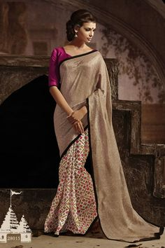 Designer Party Wear Casual Printed Bhagalpuri Silk Saree.