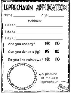 Patrick's Day Unit {Common Core Aligned} patricks day ideas for preschool St. 2nd Grade Writing, Kindergarten Writing, Writing Activities, Classroom Activities, Literacy, Classroom Ideas, School Holidays, School Fun, School Ideas
