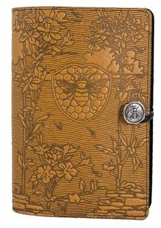 Bee Garden Journal - On the border of spring and summer, this seems appropriate! Leather Notebook, Leather Journal, I Love Bees, Garden Journal, Bee Art, Save The Bees, Bee Happy, Bees Knees, Queen Bees