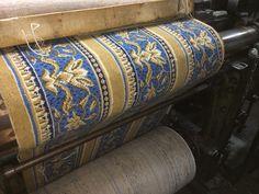 Borderline fantastic - the new HOC carpet border on the narrow loom at Langhorne Carpet.
