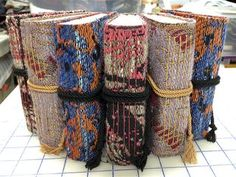 Hand made (and handwoven) books inspiration only