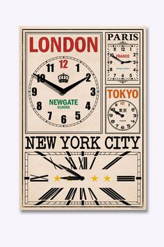 """Newgate """"World Traveller"""" Wanduhr bei Urban Outfitters"""