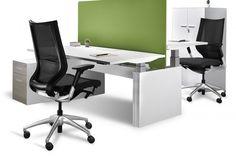 Ofita Multilevel desks allow greater flexibility in the workplace for optimal comfort Sit Stand Desk, System Furniture, Commercial Design, Desks, Workplace, Flexibility, Chair, Table, Home Decor