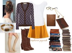 """""""Cute Librarian"""" by stephanie-jozwiak on Polyvore"""