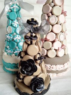 Macaroon Tower, Edible Bouquets, Macaron Cookies, Beautiful Desserts, Garden Theme, 30th Birthday, Beauty And The Beast, Cakes, Baking