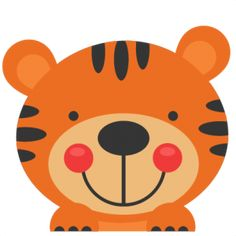Peeking Tiger SVG