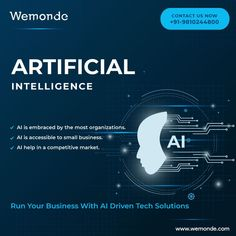Run your #business with #AI driven tech solutions. #AI Solutions for #organizatinons to begin #Transformation Journey.If you believe that #AI is not for you, check with us. 👉AI is embraced by the most organizations. 👉AI is accessible to smallbusiness 👉AI help in a competitive market Developing AI solutions for your #bussiness 👉Ecommerce 👉Retail 👉Heathcare 👉Finance 👉Transportation 👉Travel 📞 : +91-9810244800 Organizations, Ecommerce, Digital Marketing, Transportation, Finance, Retail, Journey, Tech, Running